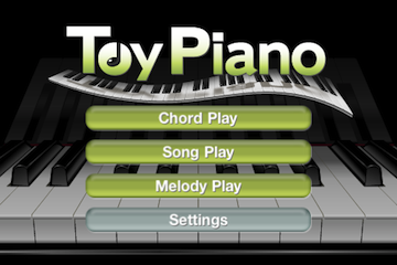 ToyPiano Screenshot Menu