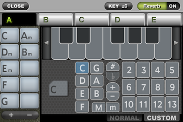 ToyPiano Screenshot ChordEdit Custom