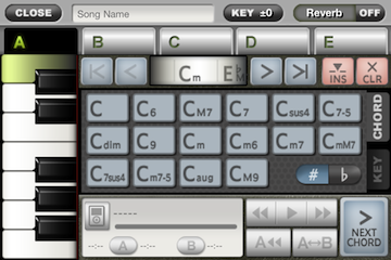 ToyPiano Screenshot SongEdit Chord