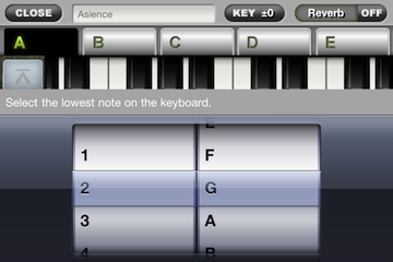 ToyPiano Screenshot SongPlay Settings